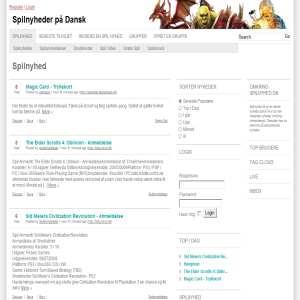 Spilnyhed.dk - Spilnyheder Online