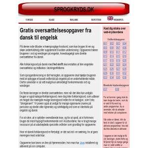 Krydsord Dansk-Engelsk