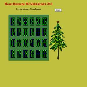 Mensa Danmarks WebJulekalender 2010