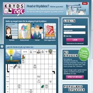 Krydsbox.dk - krydsord og sudoku online