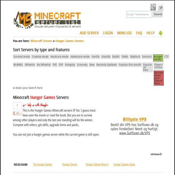 Hunger Games i Minecraft